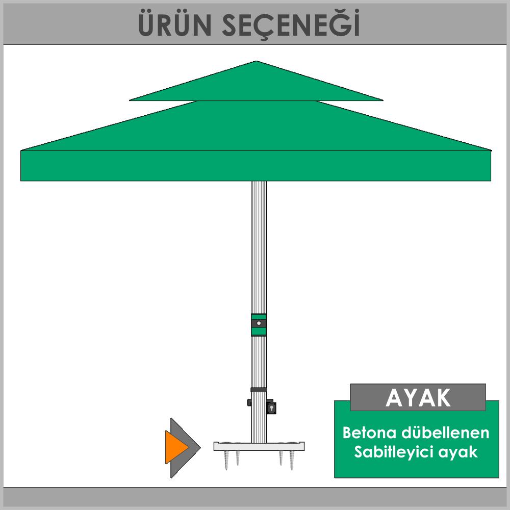 Sabit ayak şemsiye