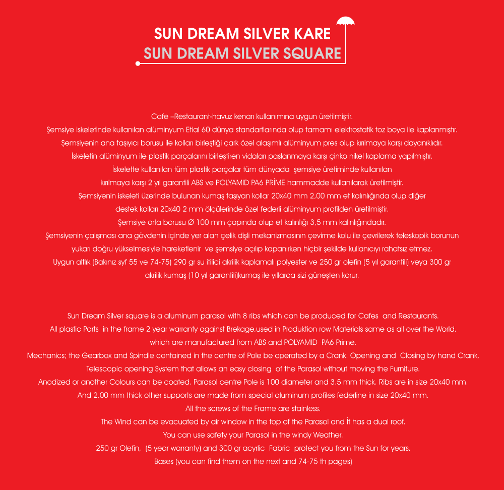 Sun dream şemsiye