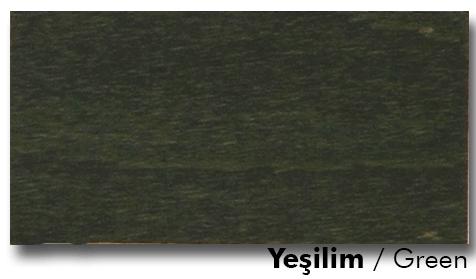 Yeşil ahşap cilası