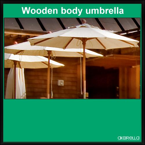 Ahşap bahçe şemsiyesi