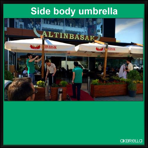 Yandan gövdeli şemsiye