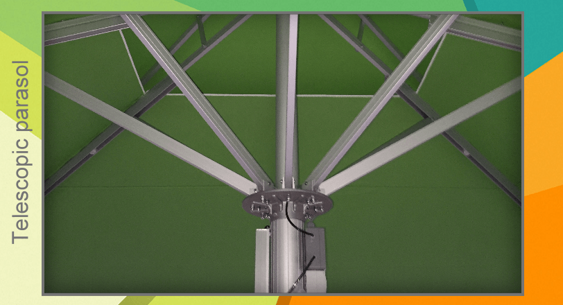 Telescopic system umbrella