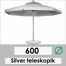 600 DIAMETER SILVER TELESCOPIC