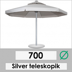 700 DIAMETER SILVER TELESCOPIC