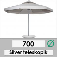 700 DIAMETER SILVER TELESCOPIC
