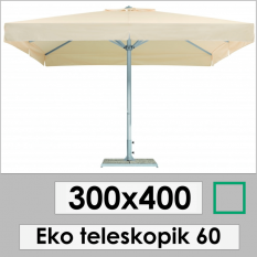 300x400 Eco Telescopic Garden Umbrella 60
