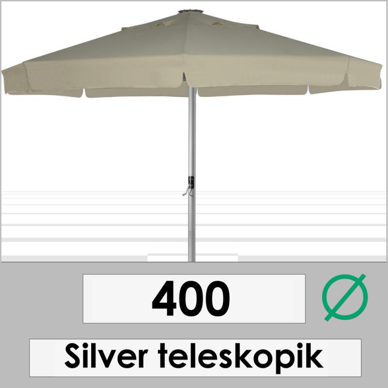 400 DIAMETER SILVER TELESCOPIC