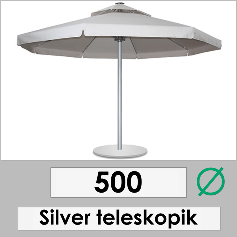 500 DIAMETER SILVER TELESCOPIC