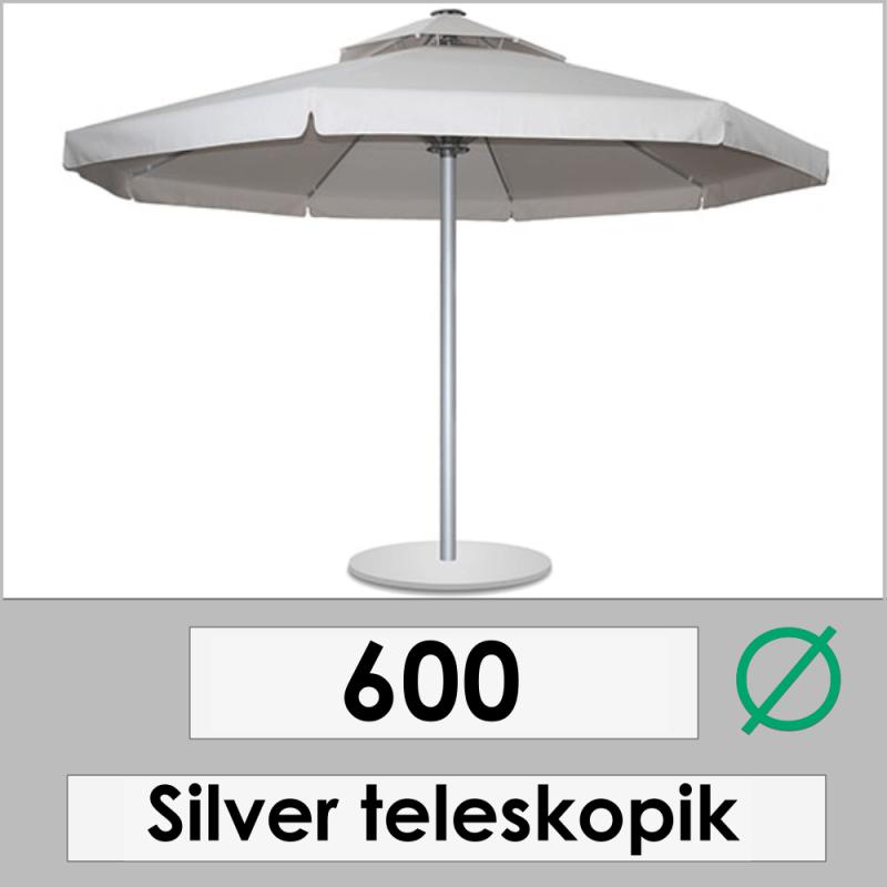 600 DIAMETER SILVER TELESCOPIC