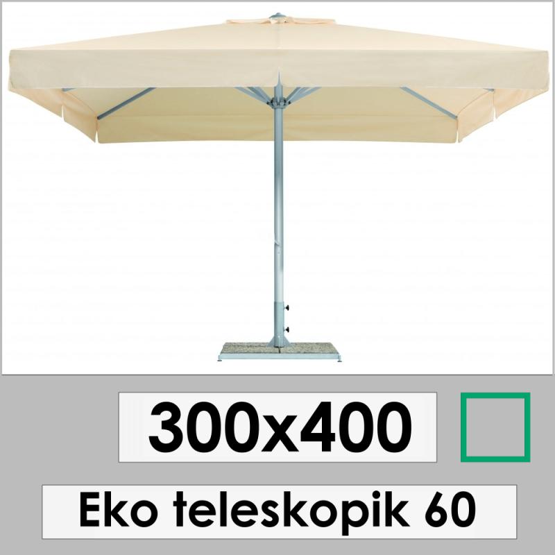 300x400 Eco Telescopic Garden Umbrella 60